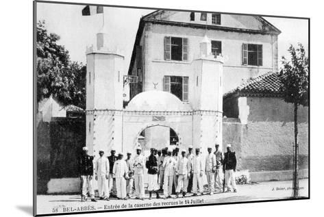 Barracks of the Recruits, French Foreign Legion, Sidi Bel Abbes, Algeria, 14 July 1906-J Geiser-Mounted Giclee Print
