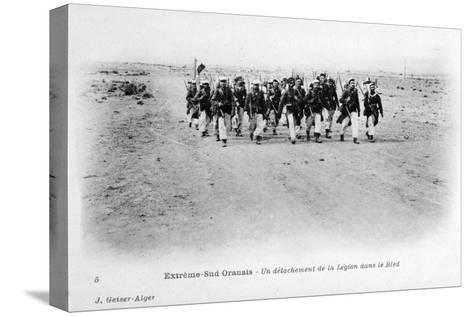 A Detachment of the French Foreign Legion in the Sahara Desert, Algeria, C1905-J Geiser-Stretched Canvas Print