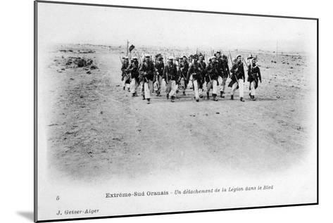 A Detachment of the French Foreign Legion in the Sahara Desert, Algeria, C1905-J Geiser-Mounted Giclee Print