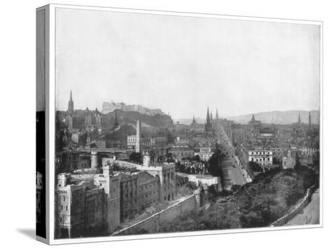 Edinburgh and Scott's Monument, Late 19th Century-John L Stoddard-Stretched Canvas Print