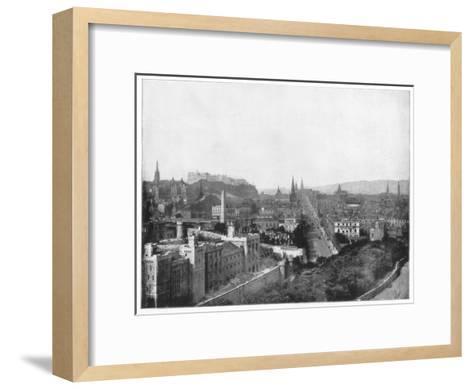 Edinburgh and Scott's Monument, Late 19th Century-John L Stoddard-Framed Art Print