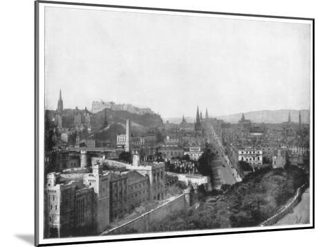 Edinburgh and Scott's Monument, Late 19th Century-John L Stoddard-Mounted Giclee Print