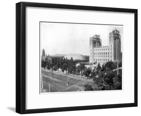 New Mormon Temple, Salt Lake City, Utah, Late 19th Century-John L Stoddard-Framed Art Print