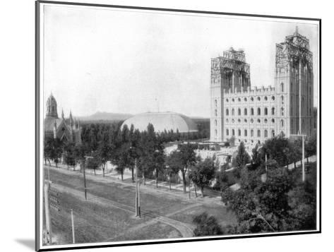 New Mormon Temple, Salt Lake City, Utah, Late 19th Century-John L Stoddard-Mounted Giclee Print
