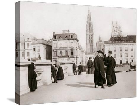 Priests, Antwerp, 1898-James Batkin-Stretched Canvas Print