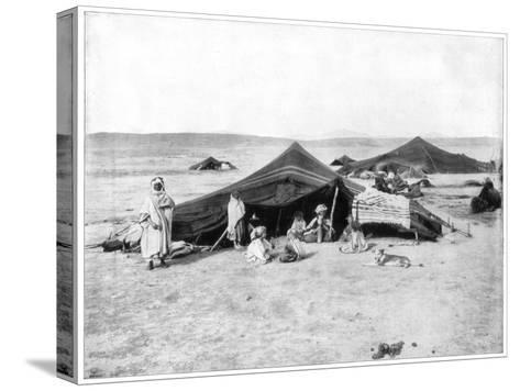 Caravan Camp, Sahara Desert, Late 19th Century-John L Stoddard-Stretched Canvas Print