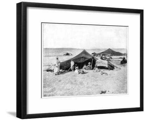 Caravan Camp, Sahara Desert, Late 19th Century-John L Stoddard-Framed Art Print