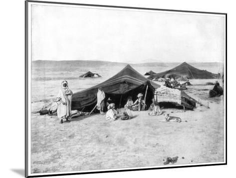 Caravan Camp, Sahara Desert, Late 19th Century-John L Stoddard-Mounted Giclee Print