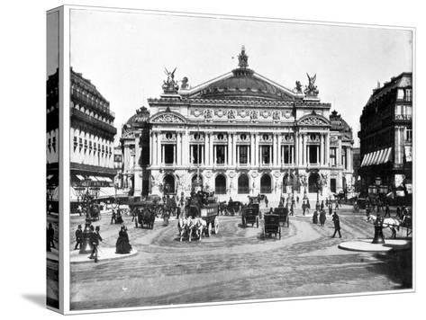 Grand Opera House, Paris, Late 19th Century-John L Stoddard-Stretched Canvas Print
