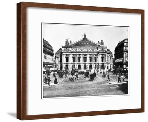 Grand Opera House, Paris, Late 19th Century-John L Stoddard-Framed Art Print