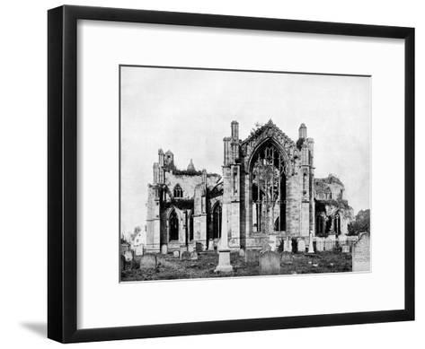 Melrose Abbey, Scotland, 1893-John L Stoddard-Framed Art Print