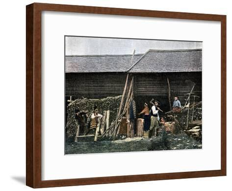 A House in Dalarna, Sweden, C1890-L Boulanger-Framed Art Print