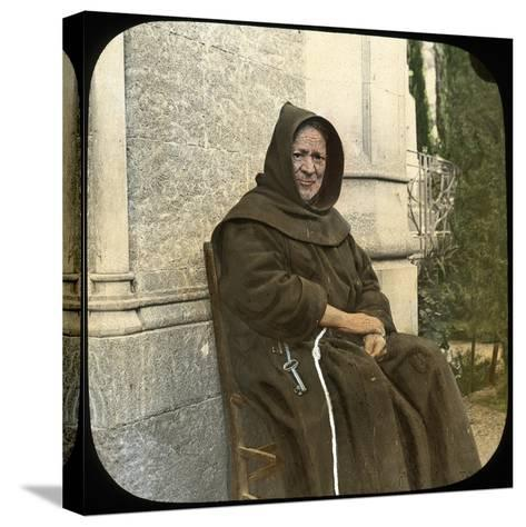 Monk, Sicily, Italy, Late 19th or Early 20th Century-L Toms-Stretched Canvas Print