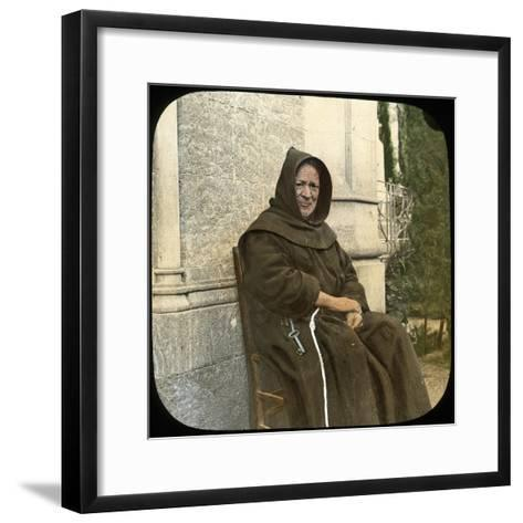 Monk, Sicily, Italy, Late 19th or Early 20th Century-L Toms-Framed Art Print