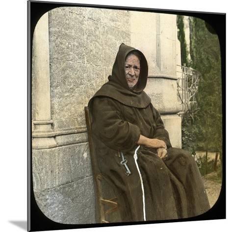 Monk, Sicily, Italy, Late 19th or Early 20th Century-L Toms-Mounted Giclee Print