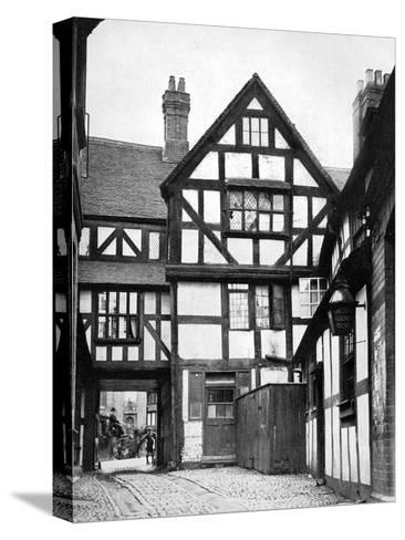 Courtyard of the Unicorn Inn, Shrewsbury, Shropshire, England, 1924-1926-Herbert Felton-Stretched Canvas Print