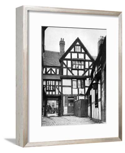 Courtyard of the Unicorn Inn, Shrewsbury, Shropshire, England, 1924-1926-Herbert Felton-Framed Art Print
