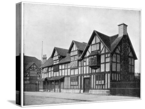 William Shakespeare's House, Stratford-Upon-Avon, Warwickshire, Late 19th Century-John L Stoddard-Stretched Canvas Print