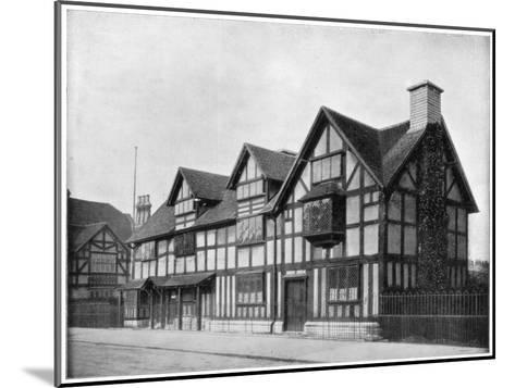 William Shakespeare's House, Stratford-Upon-Avon, Warwickshire, Late 19th Century-John L Stoddard-Mounted Giclee Print