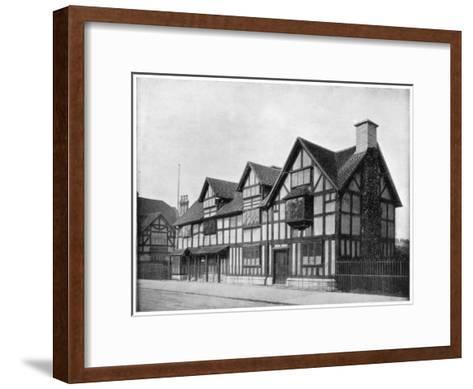 William Shakespeare's House, Stratford-Upon-Avon, Warwickshire, Late 19th Century-John L Stoddard-Framed Art Print