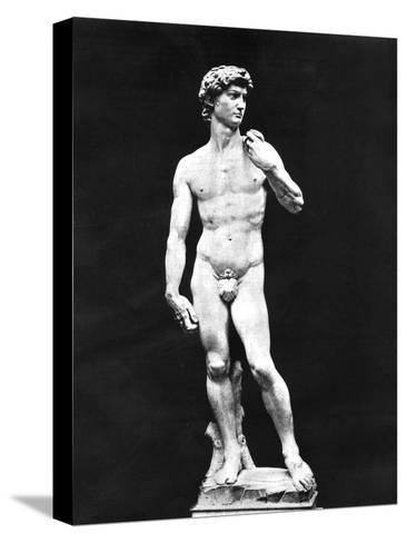 Statue of David, Florence, Italy, 1893-John L Stoddard-Stretched Canvas Print