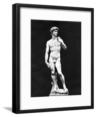 Statue of David, Florence, Italy, 1893-John L Stoddard-Framed Art Print