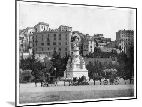 Statue of Columbus, Genoa, Italy, Late 19th Century-John L Stoddard-Mounted Giclee Print