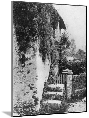 A Cottage with an Ancient 'Upping Stock, Cockington, Devon, 1924-1926-HJ Smith-Mounted Giclee Print