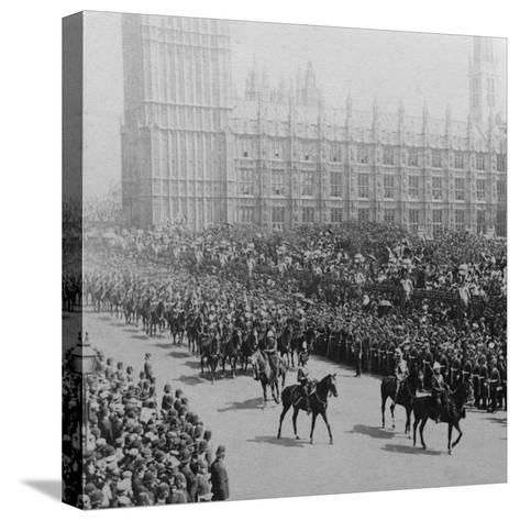 Canadian Mounted Troops, Procession for Queen Victoria's Diamond Jubilee, London, 1897-James M Davis-Stretched Canvas Print