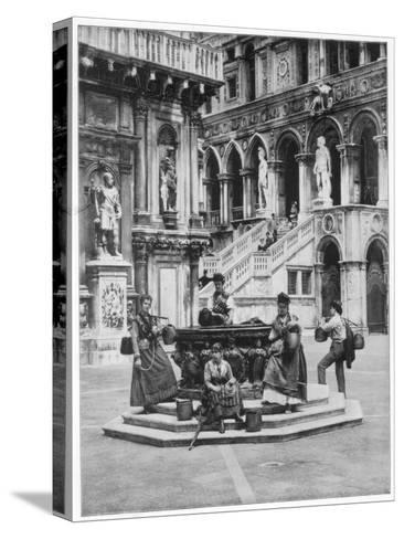 Courtyard of the Ducal Palace, Venice, Late 19th Century-John L Stoddard-Stretched Canvas Print