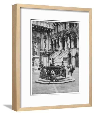 Courtyard of the Ducal Palace, Venice, Late 19th Century-John L Stoddard-Framed Art Print