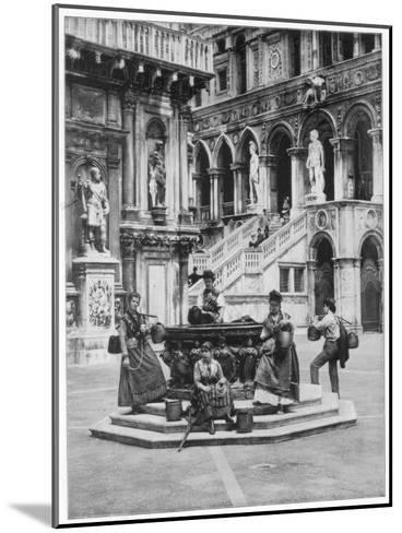 Courtyard of the Ducal Palace, Venice, Late 19th Century-John L Stoddard-Mounted Giclee Print