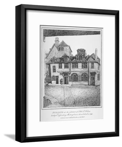 Building at the Entrance of Little St Helen'S, City of London, 1870-John Thomas Smith-Framed Art Print