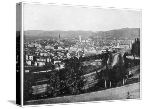 Panorama of Florence, Italy, Late 19th Century-John L Stoddard-Stretched Canvas Print