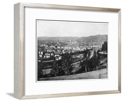 Panorama of Florence, Italy, Late 19th Century-John L Stoddard-Framed Art Print