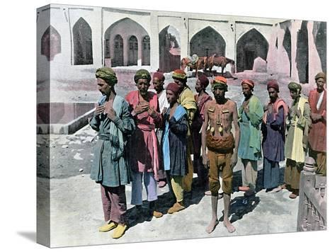 Dervishes and Martyrs, Tehran, C1890- Gillot-Stretched Canvas Print