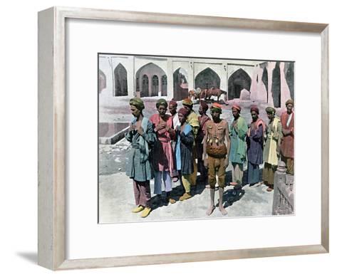 Dervishes and Martyrs, Tehran, C1890- Gillot-Framed Art Print