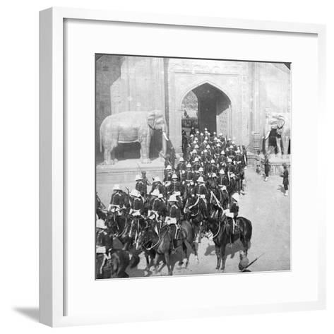 A Procession Passing Through the Delhi Gate, Lahore, Pakistan, 1913-HD Girdwood-Framed Art Print