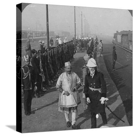 State Arrival of the Maharaja of Benares at Delhi, India, 1912-HD Girdwood-Stretched Canvas Print