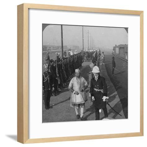 State Arrival of the Maharaja of Benares at Delhi, India, 1912-HD Girdwood-Framed Art Print