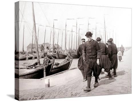 Men in Traditional Dress, Marken Island, Netherlands, 1898-James Batkin-Stretched Canvas Print