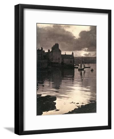 Lerwick Harbour, Shetland, Scotland, 1924-1926-JD Rattar-Framed Art Print