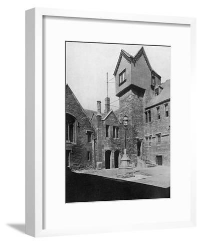 Merton College, Oxford, Oxfordshire, 1924-1926-HN King-Framed Art Print