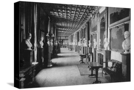 The Grand Corridor, Windsor Castle, Berkshire, 1924-1926-HN King-Stretched Canvas Print