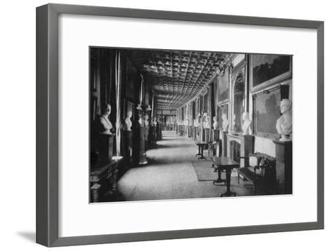 The Grand Corridor, Windsor Castle, Berkshire, 1924-1926-HN King-Framed Art Print
