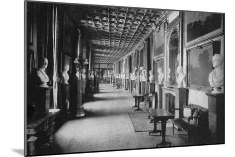 The Grand Corridor, Windsor Castle, Berkshire, 1924-1926-HN King-Mounted Giclee Print