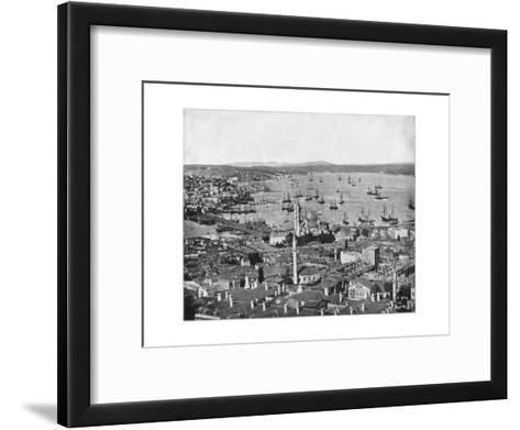 Constantinople and the Bosphorus, Turkey, Late 19th Century-John L Stoddard-Framed Art Print
