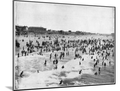 Beach at Atlantic City, New Jersey, USA, Late 19th Century-John L Stoddard-Mounted Giclee Print
