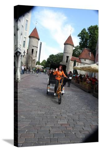Viru Gate, Entrance to the Old Town, Tallin, Estonia, 2011-Sheldon Marshall-Stretched Canvas Print