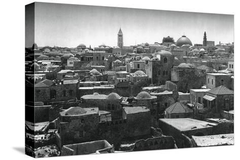 Jerusalem and Dome of the Church of the Holy Sepulchre, 1937-Martin Hurlimann-Stretched Canvas Print